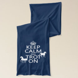 Jersey Scarf with Keep Calm and Trot On design