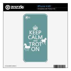 iPhone 4/4S Skin with Keep Calm and Trot On design