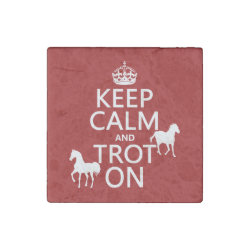 Marble Magnet with Keep Calm and Trot On design
