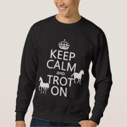 Men's Basic Sweatshirt with Keep Calm and Trot On design