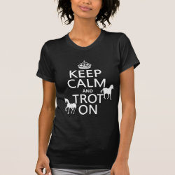 Women's American Apparel Fine Jersey Short Sleeve T-Shirt with Keep Calm and Trot On design