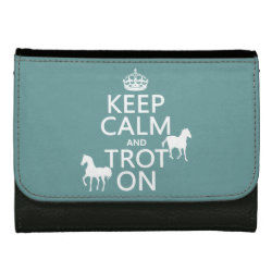 Medium Faux Leather Wallet with Keep Calm and Trot On design