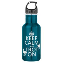 Water Bottle (24 oz) with Keep Calm and Trot On design