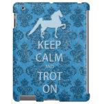 Keep Calm and Trot On Saddlebred iPad Case