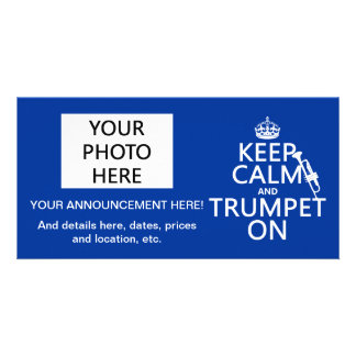 Keep Calm and Trumpet On (any background color) Card