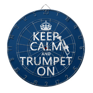 Keep Calm and Trumpet On (any background color) Dartboard