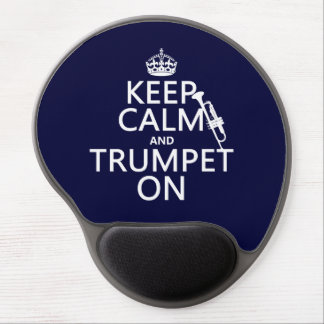 Keep Calm and Trumpet On (any background color) Gel Mouse Pad