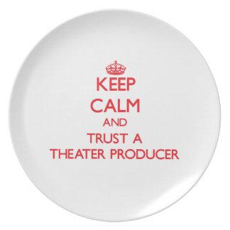 Keep Calm and Trust a aater Producer Dinner Plates