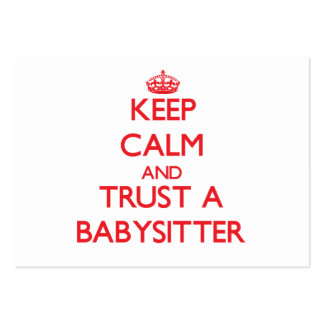 Keep Calm and Trust a Babysitter Business Card