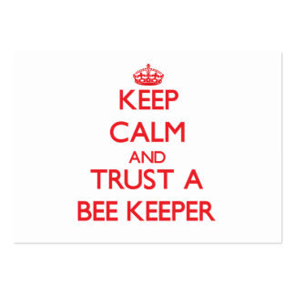 Keep Calm and Trust a Bee Keeper Business Card