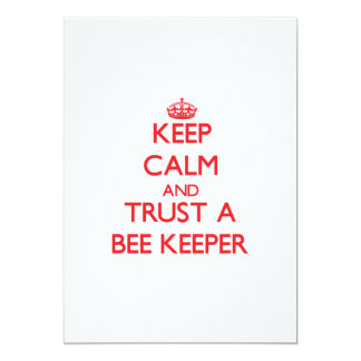 "Keep Calm and Trust a Bee Keeper 5"" X 7"" Invitation Card"