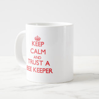 Keep Calm and Trust a Bee Keeper Extra Large Mugs