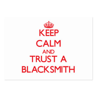 Keep Calm and Trust a Blacksmith Business Card Template