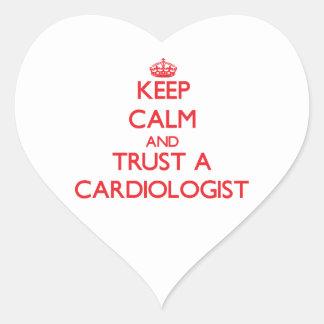 Keep Calm and Trust a Cardiologist Heart Sticker