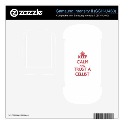 Keep Calm and Trust a Cellist Samsung Intensity Skin