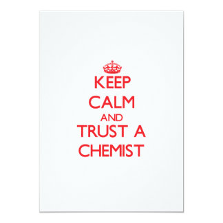 Keep Calm and Trust a Chemist Personalized Invites