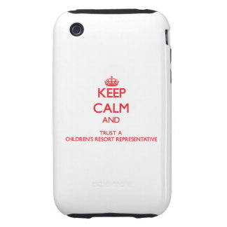 Keep Calm and Trust a Children's Resort Representa iPhone 3 Tough Covers