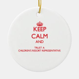 Keep Calm and Trust a Children's Resort Representa Christmas Tree Ornament