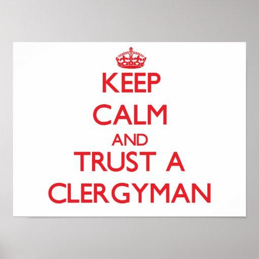 Keep Calm and Trust a Clergyman Print