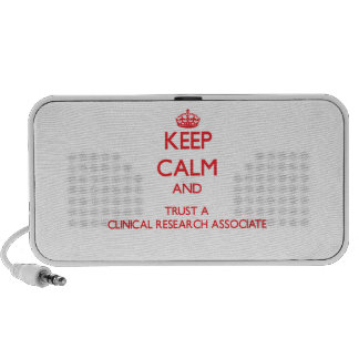 Keep Calm and Trust a Clinical Research Associate Mp3 Speakers