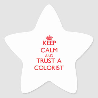 Keep Calm and Trust a Colorist Star Sticker
