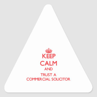 Keep Calm and Trust a Commercial Solicitor Sticker