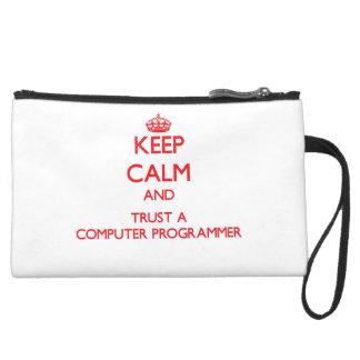 Keep Calm and Trust a Computer Programmer Wristlet Clutch