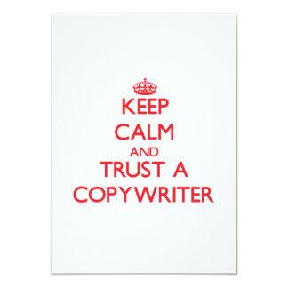 "Keep Calm and Trust a Copywriter 5"" X 7"" Invitation Card"
