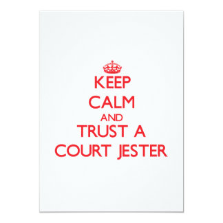 Keep Calm and Trust a Court Jester 5x7 Paper Invitation Card