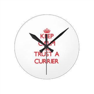 Keep Calm and Trust a Currier Clocks