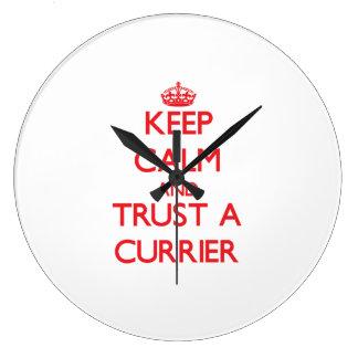 Keep Calm and Trust a Currier Wallclock