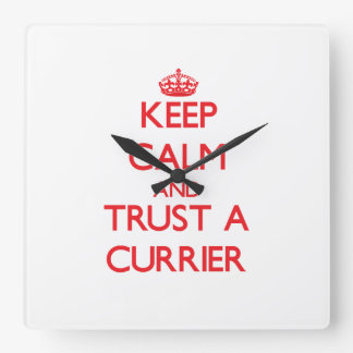 Keep Calm and Trust a Currier Square Wall Clock