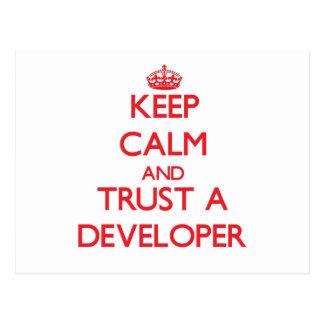 Keep Calm and Trust a Developer Postcards