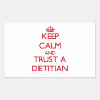 Keep Calm and Trust a Dietitian Rectangle Sticker