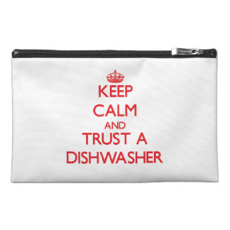 Keep Calm and Trust a Dishwasher Travel Accessory Bag