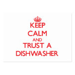 Keep Calm and Trust a Dishwasher Business Card Template