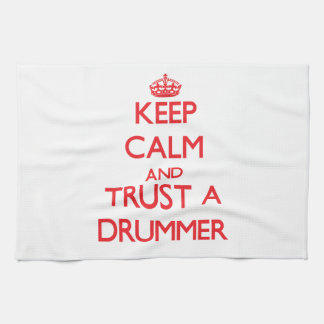 Keep Calm and Trust a Drummer Hand Towels