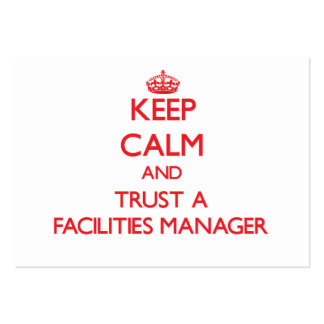 Keep Calm and Trust a Facilities Manager Business Card