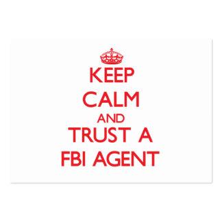 Keep Calm and Trust a Fbi Agent Business Card