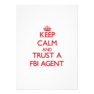 Keep Calm and Trust a Fbi Agent Custom Announcements