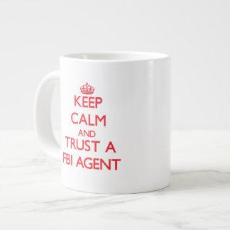 Keep Calm and Trust a Fbi Agent Jumbo Mugs