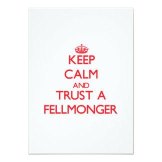 "Keep Calm and Trust a Fellmonger 5"" X 7"" Invitation Card"