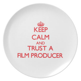 Keep Calm and Trust a Film Producer Party Plates