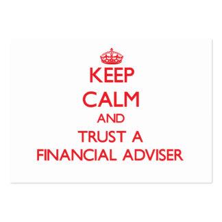 Keep Calm and Trust a Financial Adviser Business Card Template