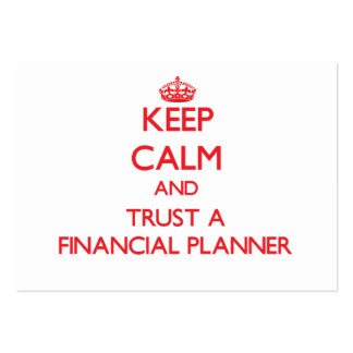 Keep Calm and Trust a Financial Planner Business Card