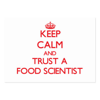 Keep Calm and Trust a Food Scientist Business Card