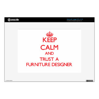 Keep Calm and Trust a Furniture Designer Decals For Large Netbooks