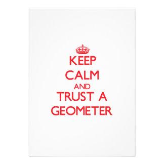 Keep Calm and Trust a Geometer Custom Invitations