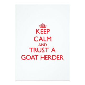 Keep Calm and Trust a Goat Herder Personalized Invitations