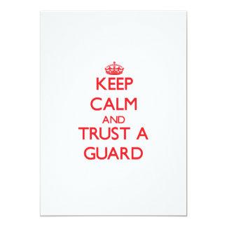 Keep Calm and Trust a Guard 5x7 Paper Invitation Card